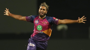 Imran Tahir picked up three wickets in his first two overs