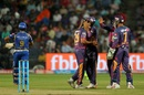 Rajat Bhatia picked up two wickets in the middle overs, Rising Pune Supergiant v Mumbai Indians, IPL 2017, Pune, April 6, 2017