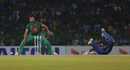 Mashrafe Mortaza looks upset after missing a run-out opportunity, Sri Lanka v Bangladesh, 2nd T20I, Colombo, April 6, 2017