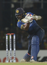 Chamara Kapugedera plays a cover drive, Sri Lanka v Bangladesh, 2nd T20I, Colombo, April 6, 2017