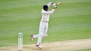 Haseeb Hameed plays off the back foot