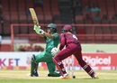 Kamran Akmal plays through the leg side, West Indies v Pakistan, 1st ODI, Guyana, April 7, 2017