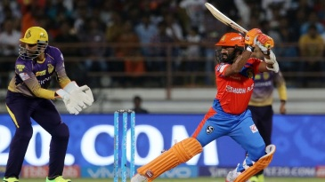 Dinesh Karthik makes space to free his arms