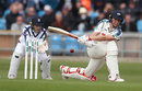 Gary Ballance sweeps during his century, Yorkshire v Hampshire, Specsavers County Championship, 1st day, Headingley, April 7, 2017