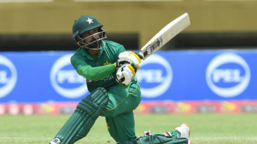 Mohammad Hafeez overcame a slow start to make a measured half-century