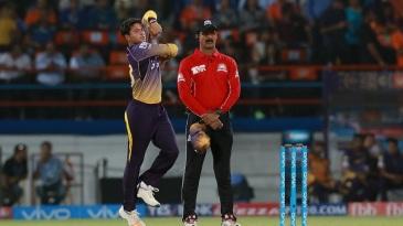 Kuldeep Yadav was the pick of the Knight Riders bowlers