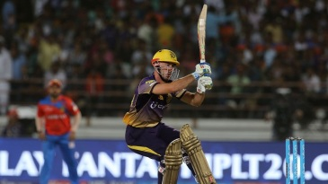 Chris Lynn hit some powerful shots for Knight Riders