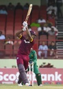 Kieran Powell plays through the off side, West Indies v Pakistan, 1st ODI, Guyana, April 7, 2017