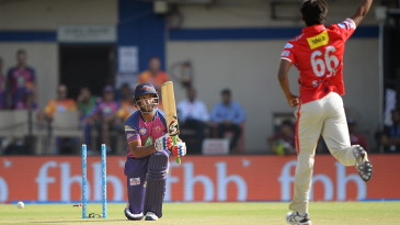 Mayank Agarwal was bowled for a four-ball duck