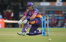 Daniel Christian improvises on a paddle sweep during his cameo, Kings XI Punjab v Rising Pune Supergiant, IPL 2017, Indore, April 8, 2017