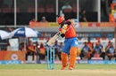 Dwayne Smith flays one through the covers, Sunrisers Hyderabad v Gujarat Lions, IPL, Hyderabad, April 9, 2017