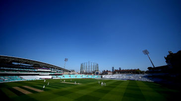 The Kia Oval was bathed in sunshine for the opening round against Warwickshire