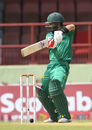 Ahmed Shehzad bats during the second ODI in Providence, West Indies v Pakistan, 2nd ODI, Providence, April 9, 2017