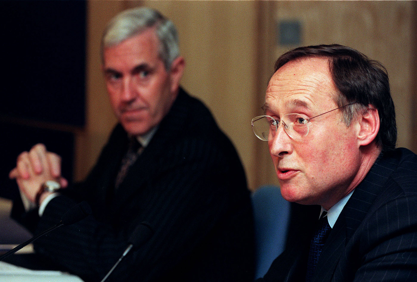 Jeff Rees (right), the head of the ICC's Anti-Corruption and Security Unit at the time, was among those who disagreed early with the decision to pursue a murder investigation