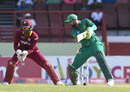 Shoaib Malik works the ball through the off side, West Indies v Pakistan, 3rd ODI, Providence, April 11, 2017