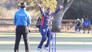 Timil Patel shouts a strong appeal for lbw, USA v Oman, ICC World Cricket League Division Four Final, Los Angeles, November 5, 2016