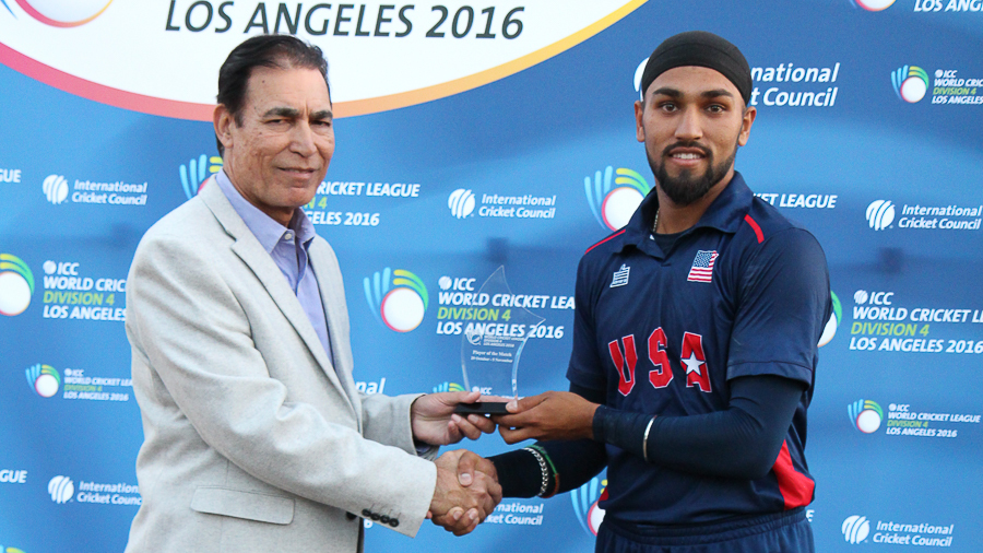Jessy Singh receives his Man of the Final award