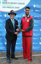 Oman's Khawar Ali was named Man of the Series, USA v Oman, ICC World Cricket League Division Four Final, Los Angeles, November 5, 2016