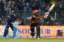 Deepak Hooda looks to muscle the ball away, Mumbai Indians v Sunrisers Hyderabad, IPL 2017, Mumbai, April 12, 2017