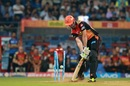 Ben Cutting was bowled by a yorker from Jasprit Bumrah, Mumbai Indians v Sunrisers Hyderabad, IPL 2017, Mumbai, April 12, 2017