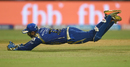 Parthiv Patel dives full length to his left to complete a stunner, Mumbai Indians v Sunrisers Hyderabad, IPL 2017, Mumbai, April 12, 2017