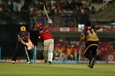 Piyush Chawla bowled Manan Vohra off his first delivery, Kolkata Knight Riders v Kings XI Punjab, IPL 2017, Kolkata, April 13, 2017