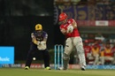 Marcus Stoinis was promoted up the order but soon fell for nine, Kolkata Knight Riders v Kings XI Punjab, IPL 2017, Kolkata, April 13, 2017