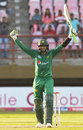 Shoaib Malik went to his hundred with a six from the final ball of the chase, West Indies v Pakistan, 3rd ODI, Providence, April 11, 2017
