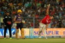 Marcus Stoinis failed to shine with the ball, Kolkata Knight Riders v Kings XI Punjab, IPL 2017, Kolkata, April 13, 2017