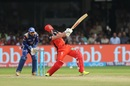 AB de Villiers looks to go big over the leg side, Royal Challengers Bangalore v Mumbai Indians, IPL 2017, Bangalore, April 14, 2017