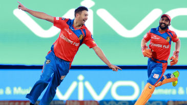 Andrew Tye replicates Shoaib Akhtar's helicopter celebration after taking a hat-trick