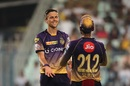 Trent Boult is all smiles after taking a wicket, Kolkata Knight Riders v Sunrisers Hyderabad, IPL 2017, Kolkata, April 15, 2017