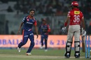 Shahbaz Nadeem made early inroads in the chase, Delhi Daredevils v Kings XI Punjab, IPL 2017, Delhi, April 15, 2017