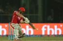 Eoin Morgan plays through the off side, Delhi Daredevils v Kings XI Punjab, IPL 2017, Delhi, April 15, 2017