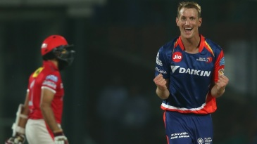 Chris Morris is elated after getting Hashim Amla out