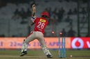 KC Cariappa loses his stumps, Delhi Daredevils v Kings XI Punjab, IPL 2017, Delhi, April 15, 2017