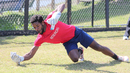 USA wicketkeeper Akeem Dodson shows off his skills during a training session, Pearland, April 8, 2017