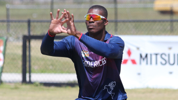 Timroy Allen gets in position to take a catch during training
