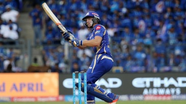 Jos Buttler shuffles across his stumps to chip the ball