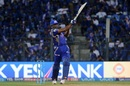 Kieron Pollard uses his strength to muscle the ball for a six, Mumbai Indians v Gujarat Lions,  IPL 2017, Mumbai, April 16, 2017