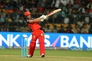 AB de Villiers lays into a pull shot, Royal Challengers v Rising Pune, IPL 2017, Bengaluru, April 16, 2017