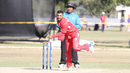Left-arm spinner Bashir Shah took 1 for 49 in seven overs, USA v Denmark, ICC World Cricket League Division Four, Los Angeles, November 2, 2016