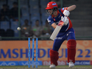 Pat Cummis guides the ball towards point, Kolkata Knight Riders v Delhi Daredevils, IPL 2017, Delhi, April 17, 2017