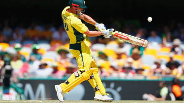 Chris Lynn hits a six