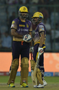 Yusuf Pathan and Manish Pandey steadied Kolkata Knight Riders chase after early loss of wickets, Kolkata Knight Riders v Delhi Daredevils, IPL 2017, Delhi, April 17, 2017