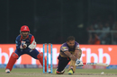 Yusuf Pathan lunges forward to sweep, Kolkata Knight Riders v Delhi Daredevils, IPL 2017, Delhi, April 17, 2017