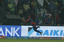 Sanju Samson flicked the ball back in play after catching it mid-air with a full-length dive, Kolkata Knight Riders v Delhi Daredevils, IPL 2017, Delhi, April 17, 2017