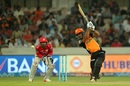 Deepak Hooda carts one through the off side, Sunrisers Hyderabad v Kings XI Punjab, IPL 2017, Hyderabad, April 17, 2017