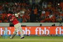 Glenn Maxwell hits down the ground, Sunrisers Hyderabad v Kings XI Punjab, IPL 2017, Hyderabad, April 17, 2017