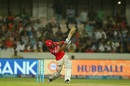 Manan Vohra launches one over the leg side, Sunrisers Hyderabad v Kings XI Punjab, IPL 2017, Hyderabad, April 17, 2017